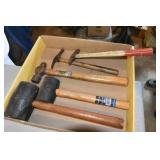 Assortment of Hammers, many styles,Plumb