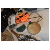 Canteen, Mount Boards, Catch Net, Bait Box
