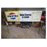 Pepsi,Dbl sided outdoor sign, for stacked display