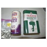 Taxaco,Outboard Oil, 2 full cans, Unknown Content