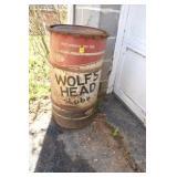 Wolfs Head Empty Drum