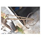 Vintage Push Plow, Layoff, Steel Handles