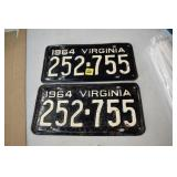Virginia, Car Tag Set, 1964