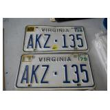 3 Sets of Car Tags