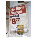 Nostalgia, Paper Bag Sign, $8.77 Oil Change