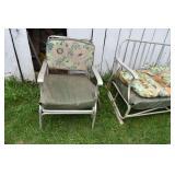 Glider & Chair, Needing Cushions,Aluminum