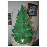 "Ceramic Christmas Tree,Lighted, works,19""T"