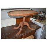 """Tray Style mahogany style table,26 x 17 x 18""""T"""