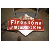 "Firestone,Dbl. Sided Sign 17x 29"", 1962"