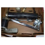 Group of Lube Guns,Fittings,Handle, 2 Pneumatic