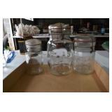 Old Jars,Atlas EZ Seal & 1/2 Pint marked 1875