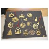 Ornaments, 16, Brass? Very beautiful,places,states