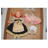 Vintage Dolls,one unstrung,bisque