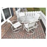 "Outdoor Patio Set, 48"", 4 chairs,umbrella,Nice"