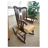 Antique Rocker, Tiger Oak, Nice, 5 generations