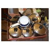 Pots & Pans, mostly matches, saucepans,skillets