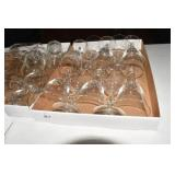 Crystal & Other stemware, 4 flats full