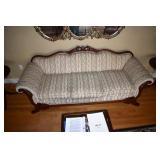 Vintage Sofa,Winged Griffins Crest,Claw feet