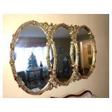 """Triple Wall Decorative Mirror, 48 x 60"""""""