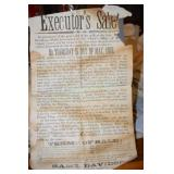 Auction Handbill, Details, 1878, Land Auction