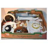 Music Boxes,2, Figurines,Battery Clock