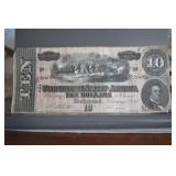 Confederate, $10, F region, no folds
