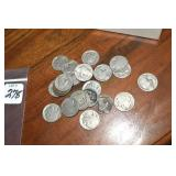 Buffalo Nickels, 22, hard or no date