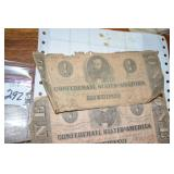 Confederate, 1$, 3 tough, one is June 1862,early