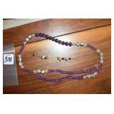 Venetian Style,Ladies, Necklace, pierced earrings