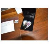 P. Buckley Moss, Heart Pendant, 2000,signed