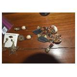 Earrings, 3 pair, one pierced Vintage