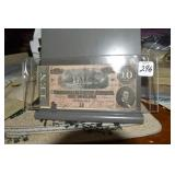Confederate Currency, $10, F Region