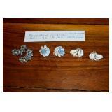 Earrings,Vintage L-R, Weiss,Leo Barnard,