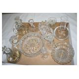 Cruets,candle holders,clock, other