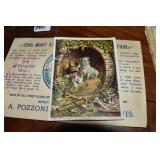 Advertising Cards, Southern Almanac-part. 1864