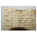 First Settler, Receipt, from Fox, 1837