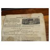 Almanac, 1876, Baltimore News Co.