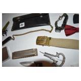 Navy belt buckle,bill wallet,Harmonica-Marine