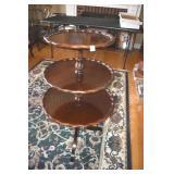 Mahogany Table, Triple, Nice Piecrust