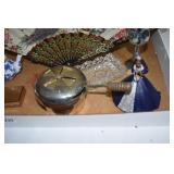Assortment, fan, 2 cedar boxes, other