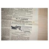 """2 Bedford Newspapers, 25x40"""",1883,1900,5 cents"""