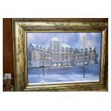 Litho, Hotel Roanoke, Signed,Ernest Johnson