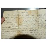 Letter,1847, to Jonathan Davidson, from
