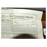 Railroad Receipt, 1877, Atlantic,Mississippi,Ohio