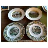 Collector Plates, 1970 Fincastle Courthouse