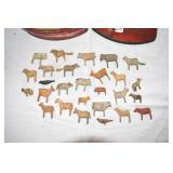 Amazing Folk Art,hand carved animals,Davidson