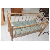 Antique Wooden Baby Crib