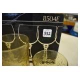 Anchor Hocking Glassware, 6 crystal Wines, 8