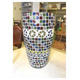 Assortment of Pottery & Art Glass Vases