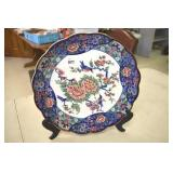 Decorative Plate, Japan, Bluebirds,12.75""